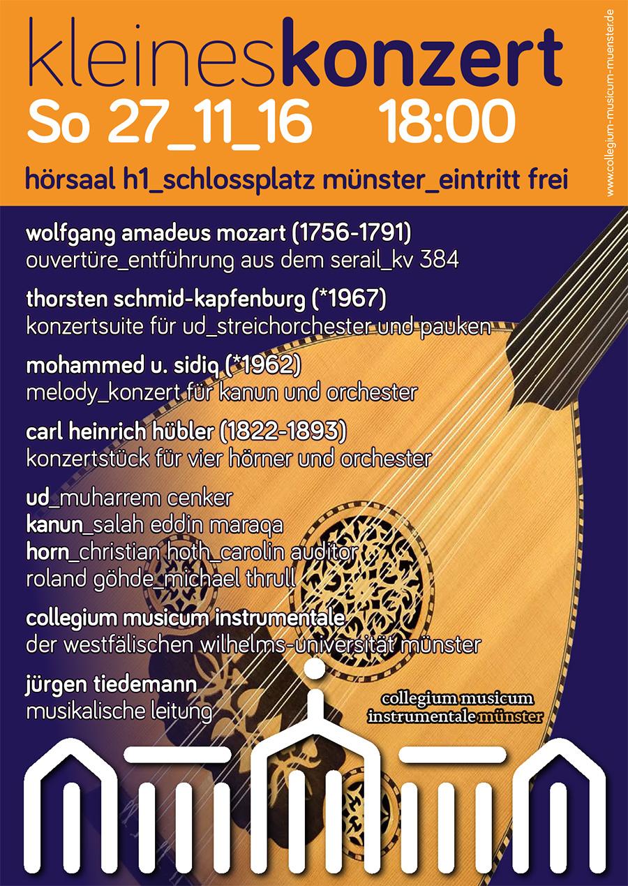 Kleines Konzert des collegium musicum instrumentale münster